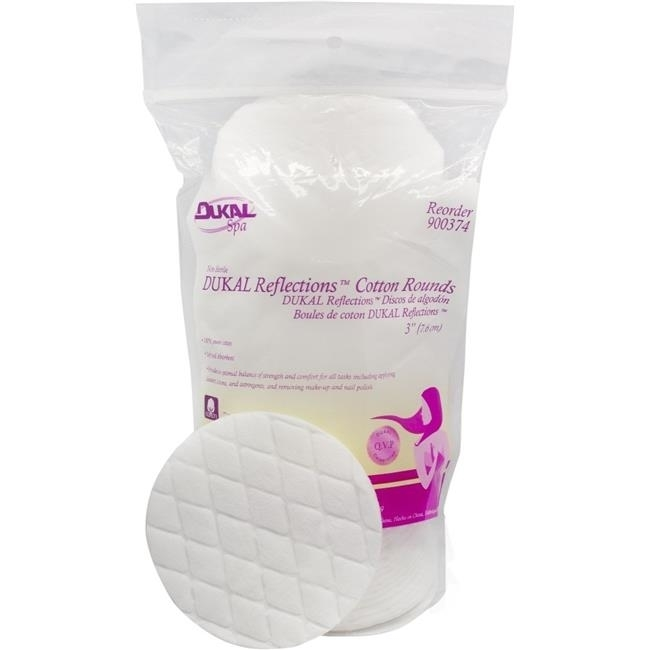 DDI 1304126 Dukal Reflections? Cotton Rounds 3, Non-Sterile, 50 Count Case of 24 quality choice non adherent pad lf sterile pack of 10 by cdma
