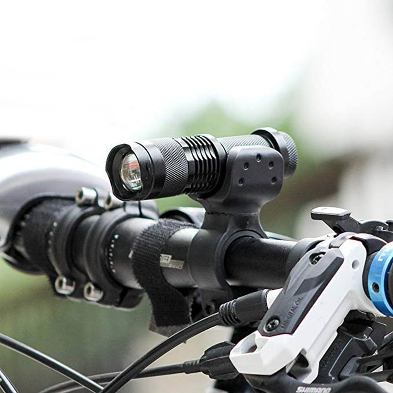 360° Rotation Cycling Bike Bicycle Front Lights Torch Clamp Mount Holder Bracket