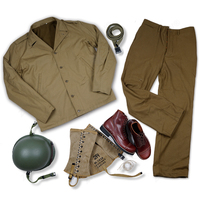ASSAULT TROOP EQUIPMENT WW2 US ARMY M41 F/W UNIFORM AND M1 HELMET WITH COVER USMC LEGGINGS AND BOOT BELT