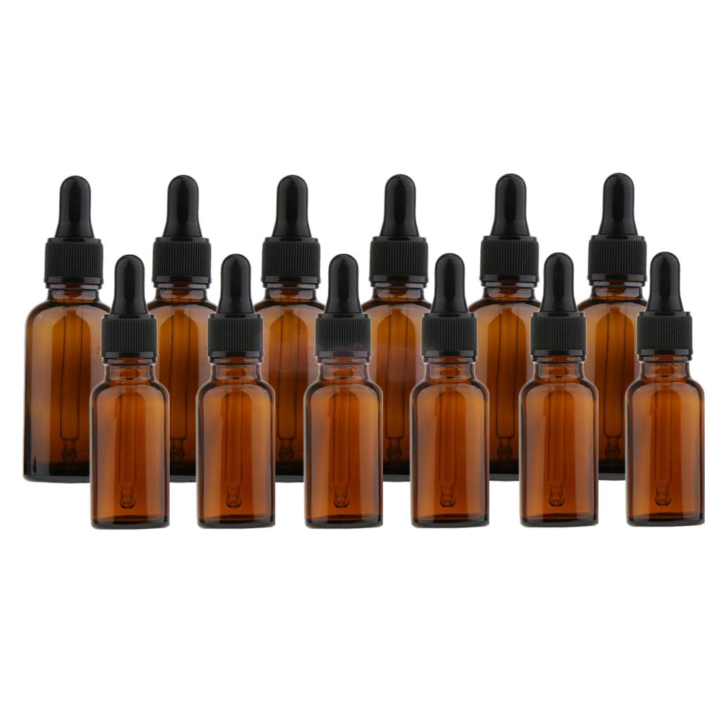 0ad67d7a9214 US $15.31 20% OFF|12 Pieces Amber Glass Bottles with Glass Eye Dropper  Dispenser for Essential Oils Chemistry Lab Chemicals-in Refillable Bottles  from ...