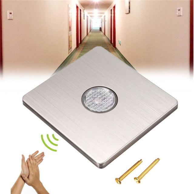 Newest 220v 89x86x38mm wall mount voice light sensor switch sound newest 220v 89x86x38mm wall mount voice light sensor switch sound light controlled delay switch promotion aloadofball Gallery