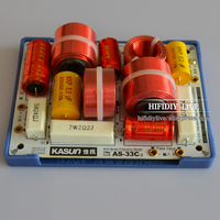 HIFIDIY LIVE AS 33C 3Way 3 speaker Unit (tweeter + mid +bass )HiFi Speakers audio Frequency Divider Crossover Filters