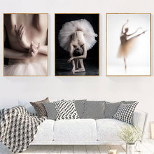 Scandianvian Princess Posters and Prints Ballet Girl Wall Art Nordic Style Painting Pictures for Girls Kids Room Home Decoration