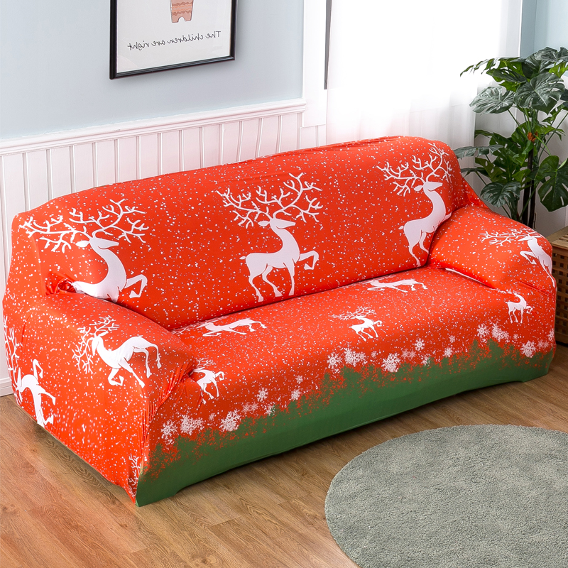 Stretch Sofa Covers Merry Christmas All Inclusive Elastic Couch Cover  Furniture Covers Slipcovers 1/2/3/4 Seater In Sofa Cover From Home U0026 Garden  On ...
