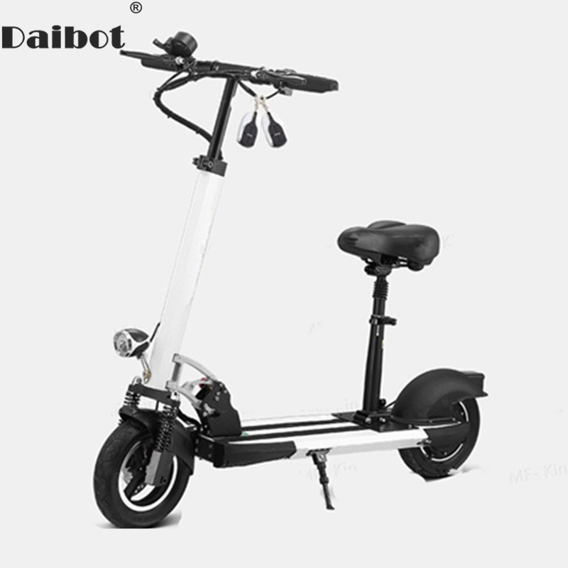 Daibot Electric Kick Scooter Two Wheel Electric Scooters Foldable 10 inch 36v/48v Portable Folding Electric Bike