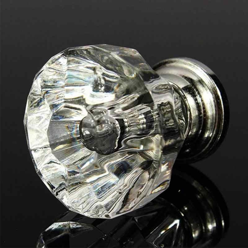 12 قطعة الاكريليك واضحة 30 مللي متر الماس شكل مقبض خزانة درج مقبض سحب المقابض المقابض العلامة التجارية الجديدة للأدراج الأثاث