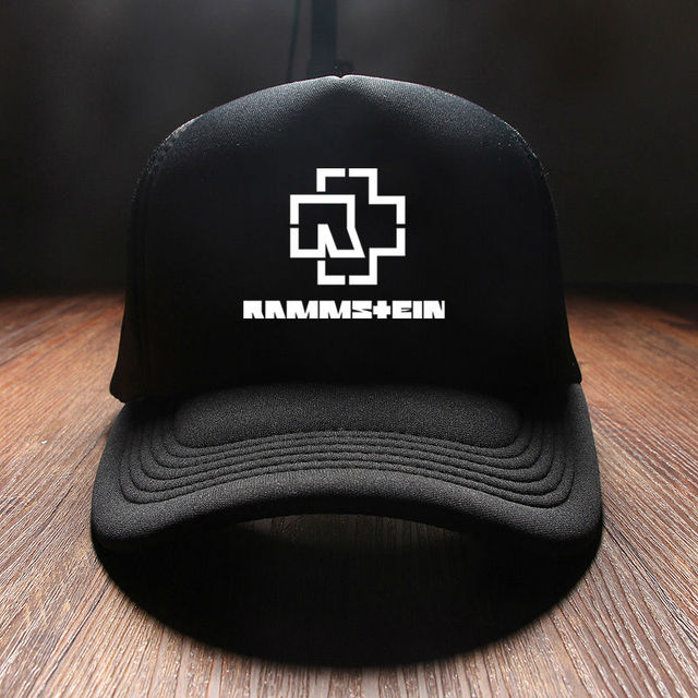Discount New 2017 Winter Snapback Caps Duck Tongue Punk Hip Hop Printed Rammstein Rock Band Mens Sun Hat Visor Neck Black