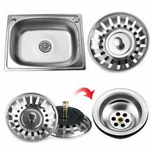 Stainless Steel Kitchen sink Strainer Stopper Waste Plug Sink Filter filtre lavabo bathroom hair catcher