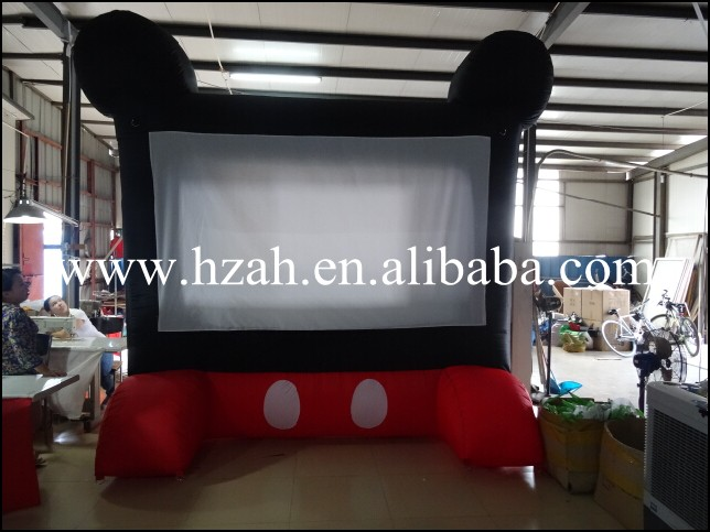 2015 Hot sale inflatable movie screen, outdoor inflatable projection screen for cinema outdoor advertising inflatable movie screen