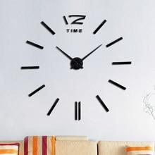 Moda design diy acrílico espelho grande relógio de parede quartzo ainda vida relógios moderna sala estar decoração para casa adesivos