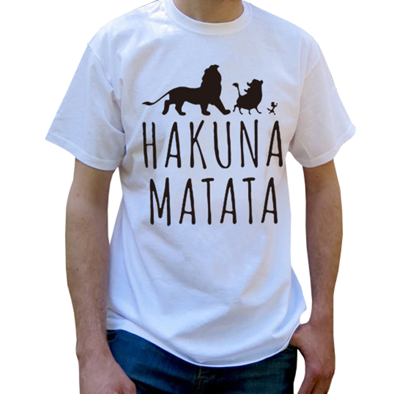 Summer 2018 Cotton T-Shirts HAKUNA MATATA Men's Big Size Camisetas de - Ropa de hombre