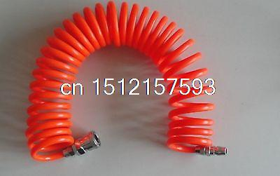 12mm(OD) x 8mm(ID) PU Recoil Air Tubing Pipe Hose 6m With Quick Connector pneumatic quick fittings 8mm x 5mm pu 6m air recoil hose pu tube pipe