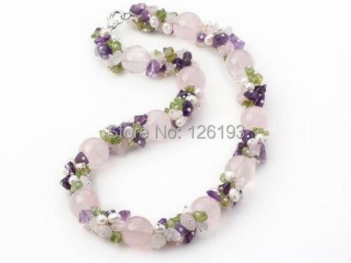 Chunky gran perla Natural collar de piedra para las mujeres hecho a mano declaración Bohemia joyería envío de la gota oferta