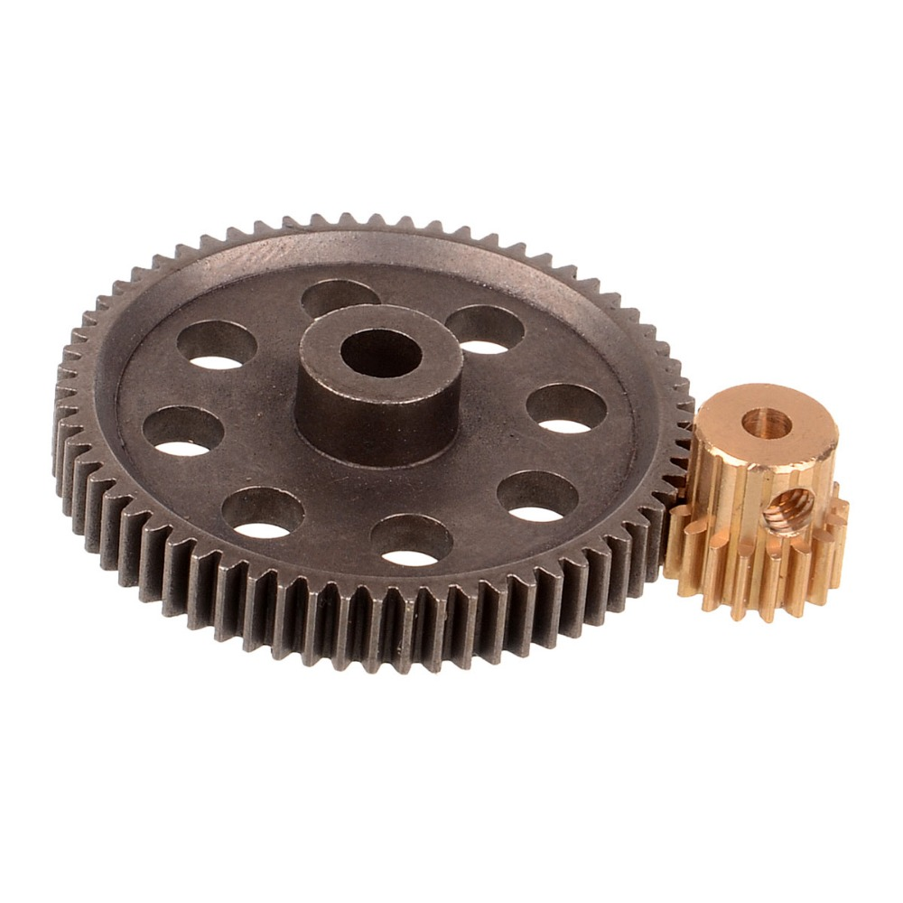 HSP RC 1/10 11184 11181 11176 11119 Differential Metal Steel Main Gear 64T Motor Gear 17T 21T 16T 2pcs metal differential driving gear 38t
