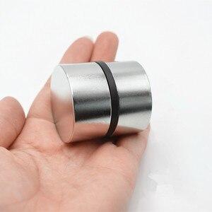 Image 3 - Magnete al neodimio 40x20 2pcs terre rare super forte potente ciclo di saldatura di ricerca permanente magnete 40*20mm gallio metallo magnete