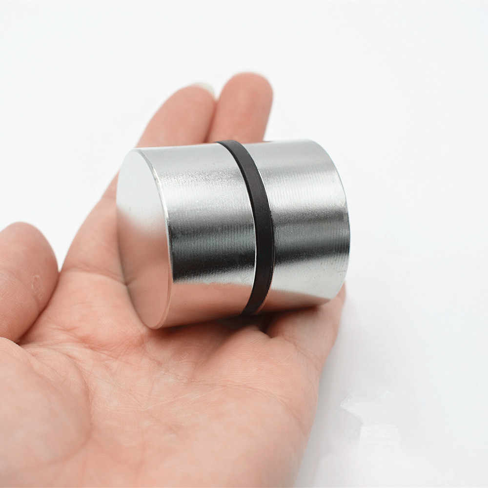 Neodymium מגנט 40x20 2pcs נדיר earth סופר חזק עגול עוצמה ריתוך חיפוש מגנט קבוע 40*20mm גליום מתכת מגנט
