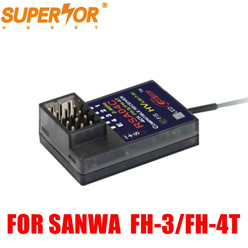 Überlegene Hobby RSA04C 4CH empfänger FH-3/FH-4T kompatibel für Sanwa M12, M11X, EXZES X, MT-4, MX-3X, GEMINI X, MT-S, MT-4S, M12S