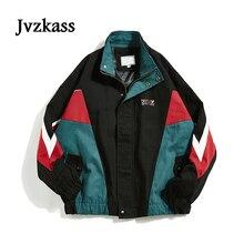 Jvzkass 2018 new blouse female hip hop Harajuku neutral street color matching student loose jacket retro Z254