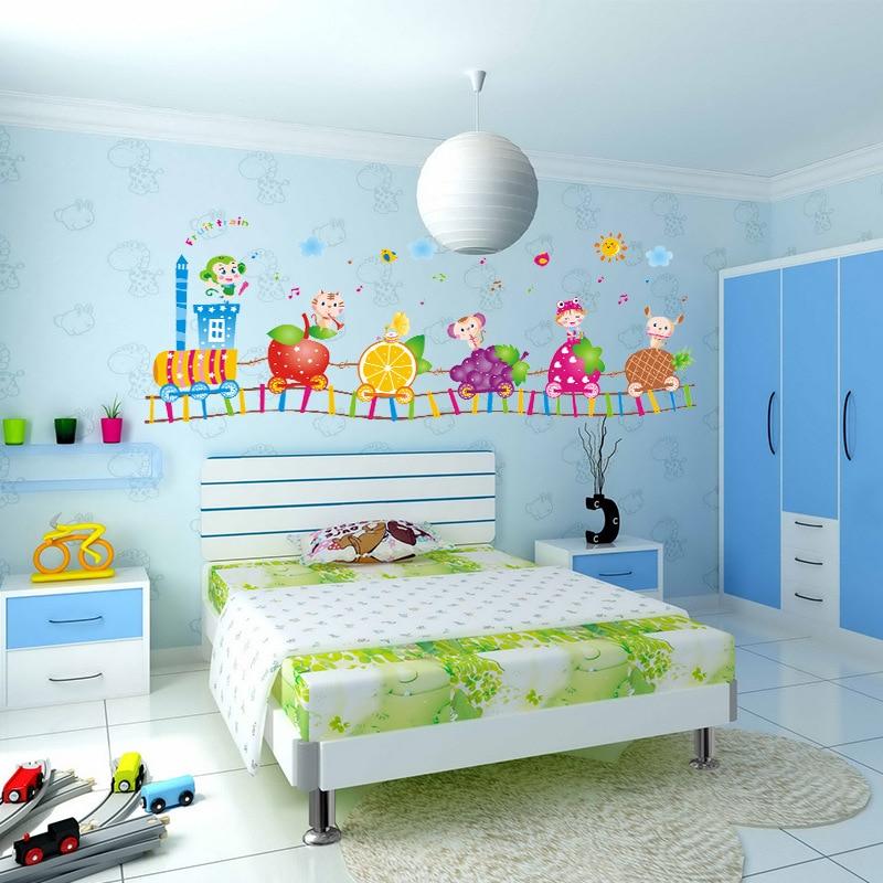 Children room is decorated classrooms kindergarten baby for Stickers pared bebe