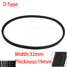 D 8000 8331 9000 32mm Width 19mm Thickness Rubber Groove Cogged Machinery Drive Transmission Band Wedge Rope Vee V Timing Belt