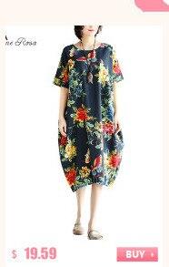 BelineRosa 2017 Big Sizes Women Clothing Bohemian Style Chinese Style Floral Printing Cotton Linen Dress 4XL 5XL HS000264 3