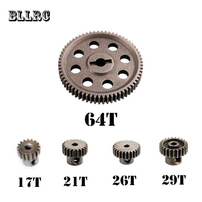hsp RC car 11184 steel metal diff.main gear 5MM 64T 17T 21T 26T 29T motor gear RC parts for 1/10 himoto 11189 11176 11181 11119 стоимость