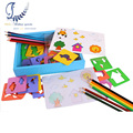 Wooden Painting Copy Tool Toy for Kids Stencils For Painting  Art Toys Colorful Pencils Pen Drawing Stencil Magic  Kids Toys