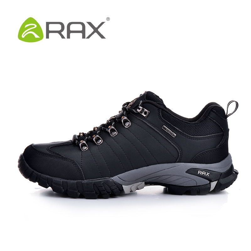 Фотография RAX authentic new winter hiking shoes men slip outdoor Climbing Shoes leather wear and shock absorption men shoes B940