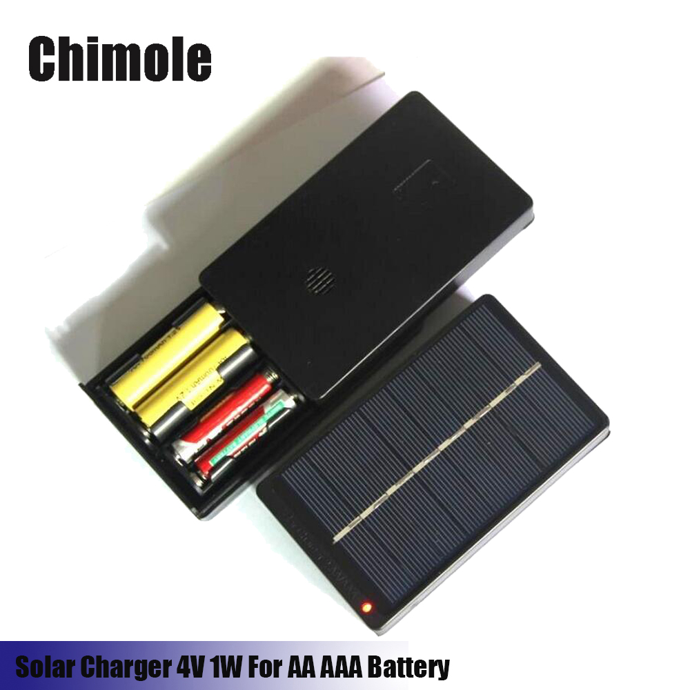 Chimole 4V 1W Solar Panel battery Charger for AA AAA NiMH Battery Outdoor Solar Battery Charger