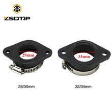 ZSDTRP Adaptador de goma para carburador fosa Dirt Bike, tubo de entrada, para 21, 24, 26, 28, 30, 32 y 34mm, OKO KEIHIN KOSO PE