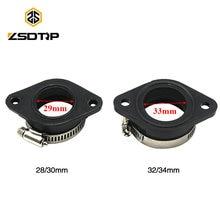 Zsdtrp adaptador para carburador, para 21, 24, 26, 28, 30, 32 e 34mm, oko, keihin, koso, pe, dirt bike, de borracha tubo de admissão de entrada