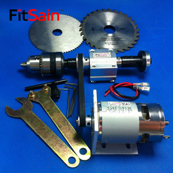 FitSain-mini table saw spindle 2GT 775 B12 1.5-10mm DIY bench saw spindle precision transmission bearing seat small lathe