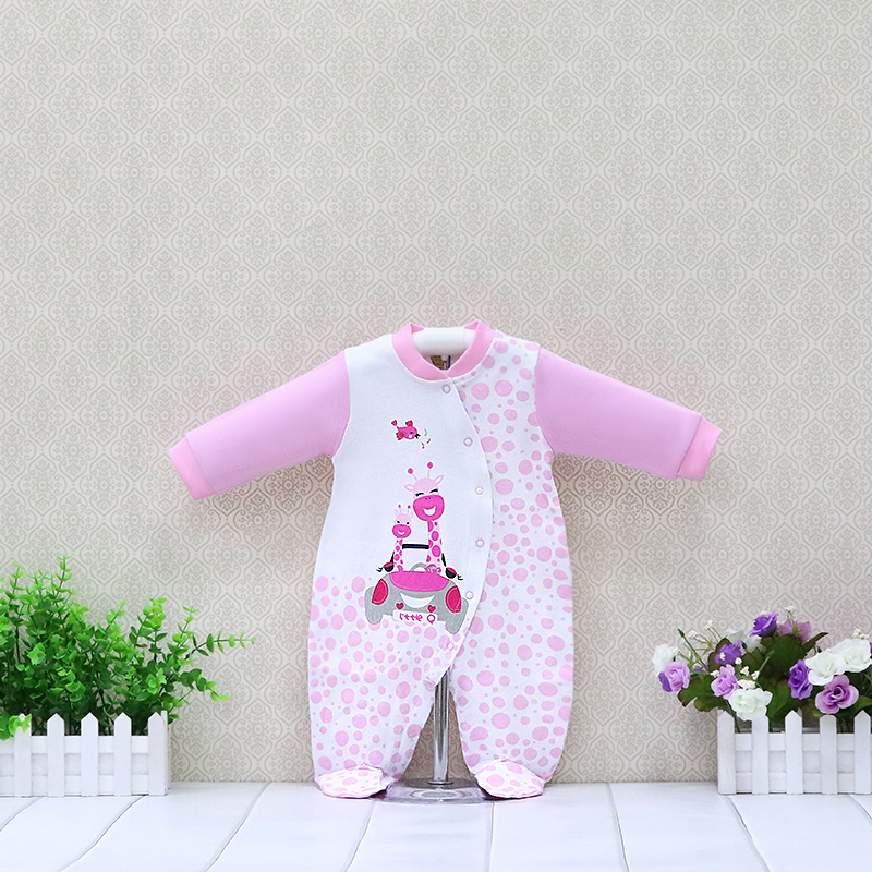 Newborn Long Sleeve Pure Cotton   Rompers   Baby O-Neck Button Suits Toddler Boys and Girls Clothing Children Gifts