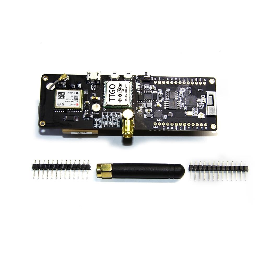 NOUVEAU TTGO T-Faisceau ESP32 433/868/915 Mhz WiFi bluetooth sans fil Module ESP-32 GPS NEO-6M SMA LORA 32 18650 Support de Batterie