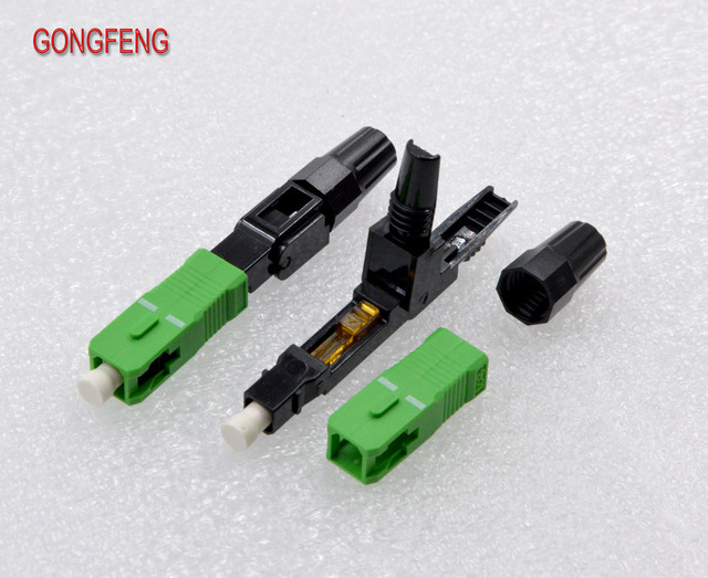 GONGFENG 50PCS NEW Optic Fiber Fast Connector SC/UPC/APC Single Mode Quick Connector Special Wholesale To Brazil