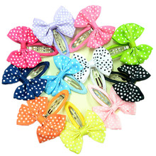 Colored Bow BB Hairpin Clips For Kids – 10 Pcs