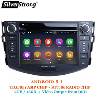 SilverStrong Android 8,1 ips dvd плеер для Toyota RAV4 Rav 4 2007 2008 2009 2010 2011 2 din 1024*600 gps навигации Wi Fi