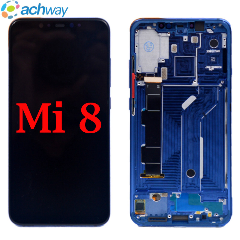 For Xiaomi Mi8 LCD Display Touch Screen Digitizer Assembly For Xiaomi Mi8 LCD With Frame Screen Replacement For Xiaomi Mi 8 LCD