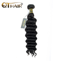 QThair Brazilian Loose Wave Bundles Human Hair Weaving Extensions Remy Hair Products 1 Piece Machine Double