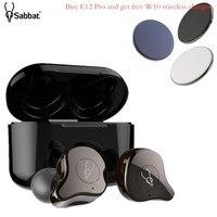 Sabbat E12 Pro TWS Wireless Bluetooth Earphones HIFI Monitor Noise Headphones In ear Sport Headset Wireless Charging PK X12 Pro