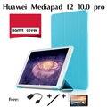 Для Huawei Mediapad T2 pro 10.0 таблетки тридцать процентов ультра-тонкий 10.1 дюймов умный покоя кобура Tablet Case Смарт-Чехол