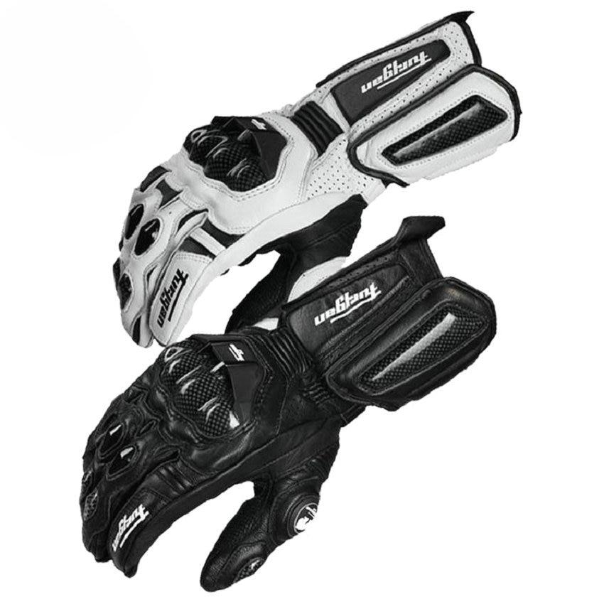 Carbon Fiber Motorcycle Gloves Leather Glove Men <font><b>Cycling</b></font> Racing Guantes Moto Motorbike Luvas