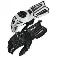 Carbon Fiber Motorcycle Gloves Leather Glove Men Cycling Racing Guantes Moto Motorbike Luvas