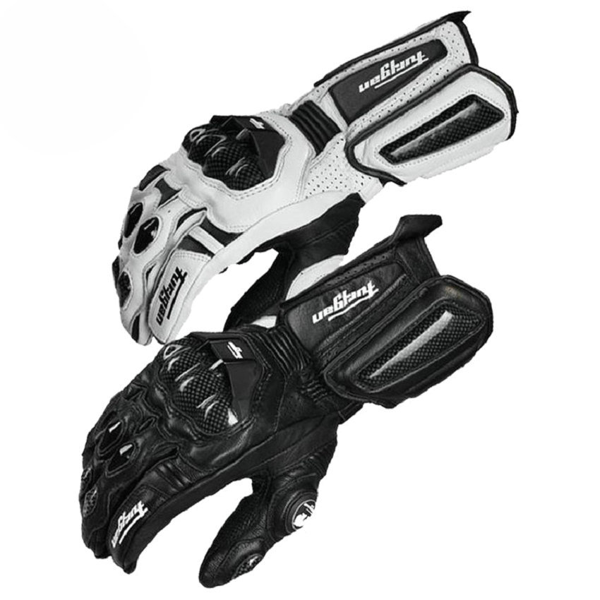 In fibra di carbonio da moto guanti in pelle guanto uomini ciclismo corsa guanti moto luvas moto