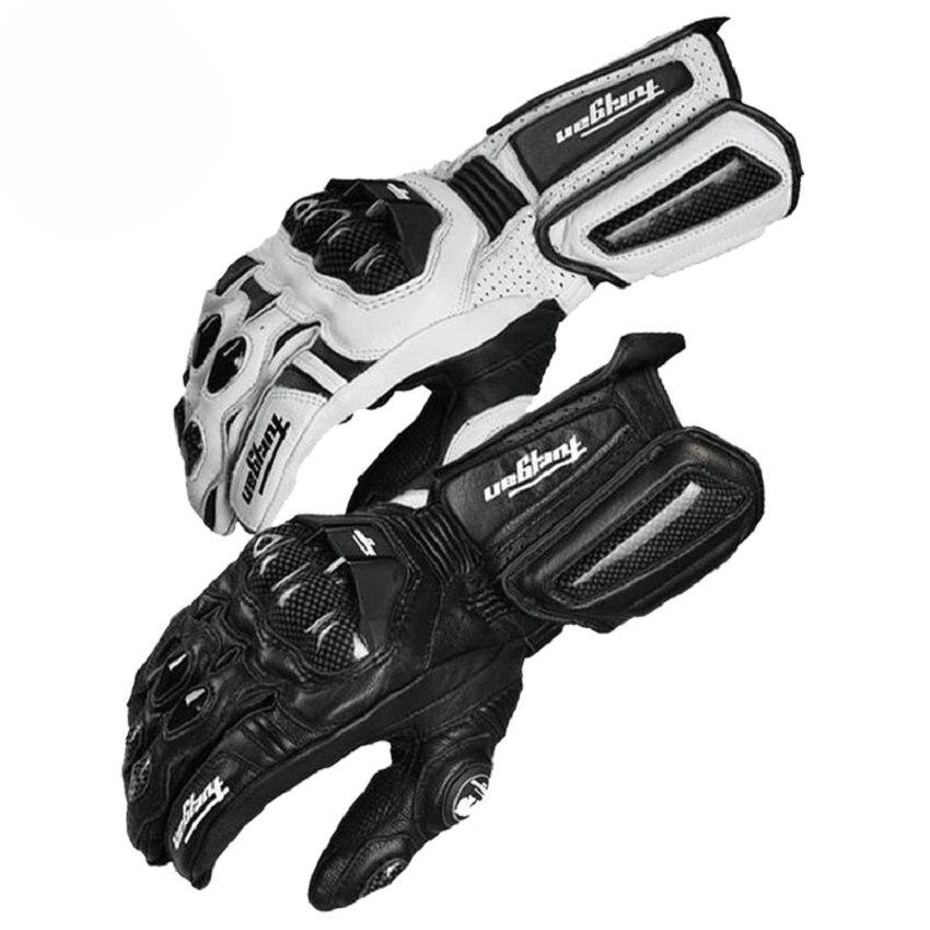 Moto en fibre de carbone Gants En Cuir Gant Hommes Vélo Racing Gants Moto Moto Luvas