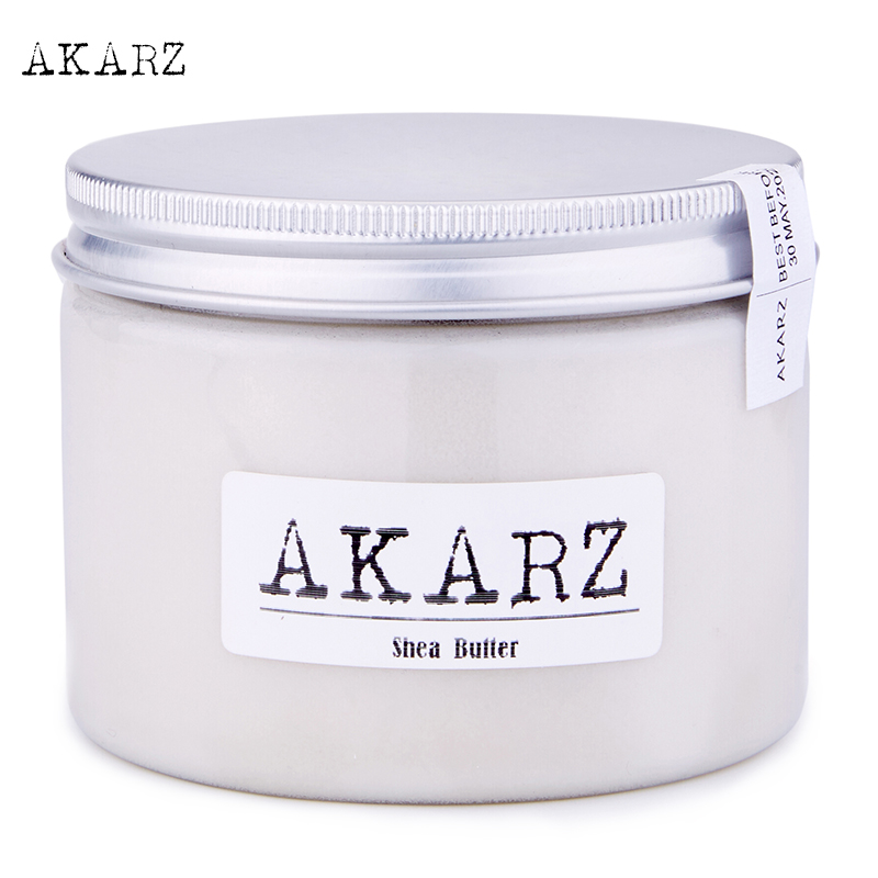 AKARZ brand Famous high-quality Shea Butter origin West Africa white solid Skin body face care Cosmetic raw materials base oil