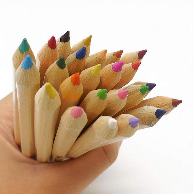 24 unids/18 unids coloreado lápiz sorteo artista sketch dibujo ...