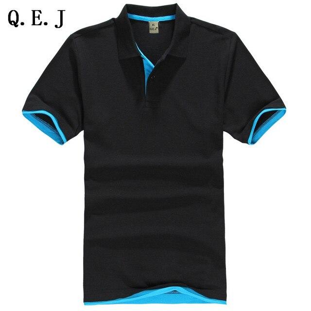 Q.E.J 2016 Новый Бренд мужская Polo Рубашки Для Мужчин aeronautica camisa polo Вязание С Коротким Рукавом трикотажные рубашки Азии Размер