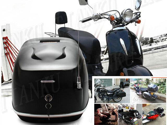 Universal Motorcycle Matte black Hard Tail Box Storage Trunk For Street Bike Dual Sport Bike Chopper  sc 1 st  AliExpress.com & Universal Motorcycle Matte black Hard Tail Box Storage Trunk For ...