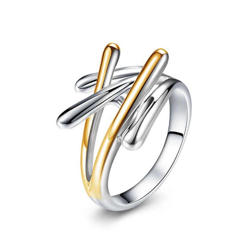 Croce Zircone Squisito di Fidanzamento e di Nozze Anelli per le donne oro argento colore di Cristallo femminile Gioielli anello di alta qualità